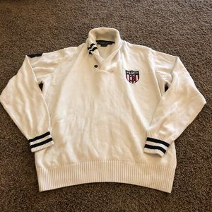 US. Polo ASSN Size L Button Neck Sweater